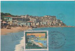 "Promontorio Del Gargano - Rodi Garganico - La Spiaggia  "" MAXIMUM  CARD "" - Postcards"