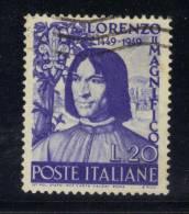 SS5527 - REPUBBLICA Il Magnifico , Il 20 Lire Filigrana Lettere 12/10 Pos D  Used - 6. 1946-.. Repubblica