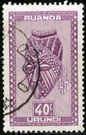 RUANDA-URUNDI, 1948, INDIGENOUS ART, FRANCOBOLLO USATO, Scott 94 - Ruanda