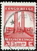 BELGIAN CONGO, CONGO BELGA, 1941, KING ALBERT MONUMENT, FRANCOBOLLO USATO, 180 - 1923-44: Usados