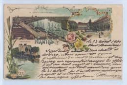 Carte Pionière De Nantes Ayant Voyagé En 1901 - Cours Cambronne - Vue Générale Loire - Clisson - Nantes