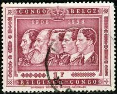 BELGIAN CONGO, CONGO BELGA, 1958, 50th Anniversary Of Belgian Congo, FRANCOBOLLO USATO, Scott 300 - Congo Belge