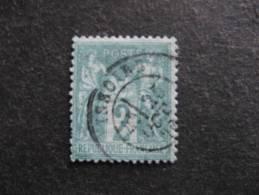 A). N° 62, Oblitéré. 1° Choix. Cote = 340 Euros - 1876-1878 Sage (Type I)