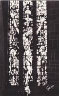 21136 Deux 2 Cp Petit Format -Bretagne Bruz 35. Intérieur Eglise, Vitrail Christ, Et Vierge. 7&6 Gaby