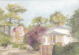 21143 La Baule, Maison Avec Veranda. AX 720 Xavier De Bonnaventure Nantes. Aquarelle Marie Paule Seigneur Guerande