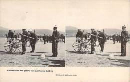 Militaria - Manoeuvre Des Pièces De Montagne 0.65 C/m (carte Stéréo) - Militaria
