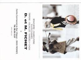 21151 Bretagne France Rennes Villejean -boucherie Charcuterie Fichet . Calendrier 1996 - Petit Format : 1991-00