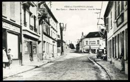 """CPSM. FERE-en-TARDENOIS. Rue Carnot. Place De La Déesse. Rue De Reims. """"Commerce GOULET-TURPIN"""". - Fere En Tardenois"""