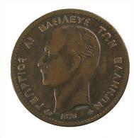 Grèce - 10 Lepta - 1878 - Bronze - TB+ - Greece