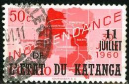 KATANGA, 1960, Independence, FRANCOBOLLO USATO - Katanga