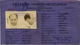 MEXIQUE CARTE IDENTITE NON CITOYEN STEAMER ISIGNY - Sin Clasificación