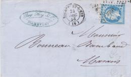 Lettre Napoléon N°14 Rochefort Sur Mer Charente Inférieure 24/12/1858  Pour Marans Petits Chiffres 2703 - 1849-1876: Période Classique