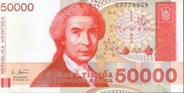 BANCONOTA DELLA CROAZIA - 50000 Dinara - Croazia