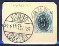 #Denmark 1914. Fragment Of Stationary With DØSTRUP Postmark. Used(o) - Gebraucht