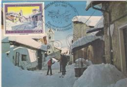 "Bardonecchia M. 1312  Confine Italo-Francese Melezet M. 1367   "" MAXIMUM  CARD "" - Cartoline"