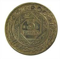 Maroc - 5 Francs - 1365/1945  - Br.Alu - TB - Marruecos