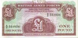 BRITISH ARMED FORCES - One Pound - British Military Authority