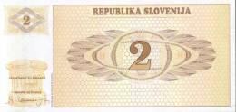 BANCONOTA DELLA SLOVENIA - 2 Tolar - Slovenia
