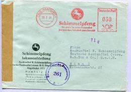 Brief Hamburg Firmenfreistempel Nach Wien Zensur 1951 (232) - [7] Federal Republic