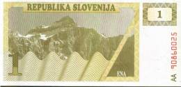 BANCONOTA DELLA SLOVENIA - 1 Tolar - Slovénie