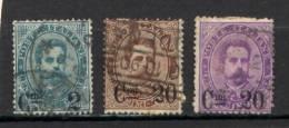 Italia Regno 1890 Sass.56/58 Usati/Used VF/F - 1861-78 Vittorio Emanuele II