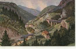 Lot De 4 Cartes Sur HÖLLENTAL - Aix Les Bains à Annemasse - Schienenverkehr