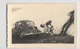 Photo 110 Mm X 65 Mm : Automobile Au Col Du Galibier ( 4 Cv ) 1951 - Photos
