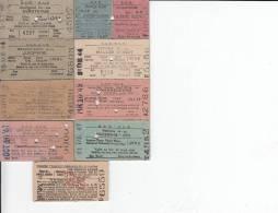 South African Railways 9 Tickets 1940's - Mundo