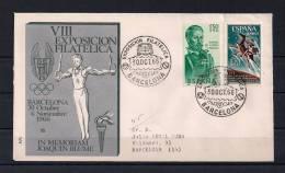 BARCELONA 1966, SOBRE CONMEMORATIVO, TEMA COCHES, SEAT 600 - Coches