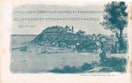 Imperia Porto Maurizio Cartolina Commemorativa Del 50 Anniversario Della Società Operaia Di Porto Maurizio (1851-1901) - Imperia