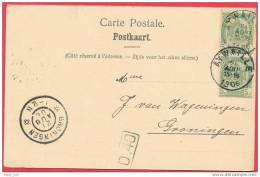 Belgium Aywaille Groningen 1906 Chateau Monsieur Ancion A Ambleve Circulated Postmarked Aywaille AND Groningen - Aywaille