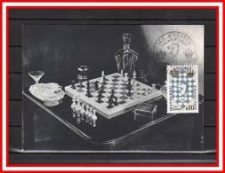 """CM 1966  """" Festival International D'échecs Au Havre """" Avec Le N° YT 1480 + Prix Dégressif. - Schaken"""