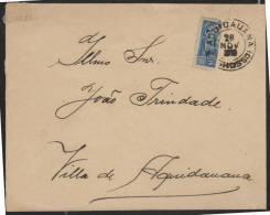 O)1910 BRAZIL,1910, QUIDAUANA CORREO INTERIOR, 200 REIS BISECTED (SC 179) USED AS 100 REIS. - Brasil