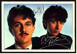 Alte Reproduktion Autogrammkarte  -  Band Soft-Cell -  Von Ca. 1982 - Autogramme