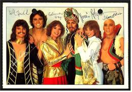 Alte Reproduktion Autogrammkarte  -  Band Dschingis Khan  -  Von Ca. 1982 - Autogramme