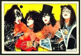 Alte Reproduktion Autogrammkarte  -  Kiss  -  Von Ca. 1982 - Autógrafos