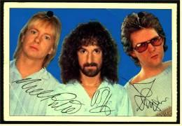 Alte Reproduktion Autogrammkarte  -  Barclay James Harvest  -  Von Ca. 1982 - Autogramme