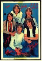 Alte Reproduktion Autogrammkarte  -  Gruppe Teens  -  Von Ca. 1982 - Autogramme