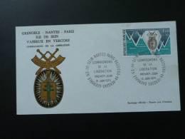 FDC Médaille De La Libération Vercors Ile De Sein - Guerre Mondiale (Seconde)