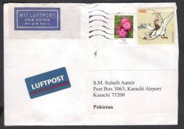 Flying Birds, Flowers, Postal History Cover From GERMANY 10-11-2009 - Unclassified