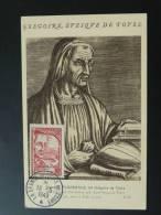 Carte Maximum Card Grégoire De Tours Medieval 1949 - Christentum