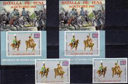 General Von Napoleon Zu Pferde 1976 Guinea Äquatorial 783,Block 208 ** Plus O 16€ Kavallerie Bf Art Bloc Sheet Of Africa - Horses