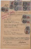 Timbre Fiscal Timbres Fiscaux Sur Procuration Poste 25 Francs  10Francs Sur 13 Francs Barre - Revenue Stamps