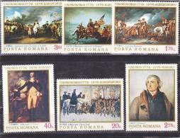 ROUMANIE 1976 INDEPENDANCE USA Yvert 2943-2948 NEUF** MNH Cote : 5.50 Euros - 1948-.... Republics
