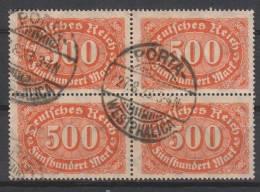 D.R.251,Viererblock,   Gestempelt. - Deutschland