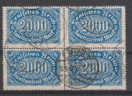 D.R.253,Viererblock,   Gestempelt. - Deutschland