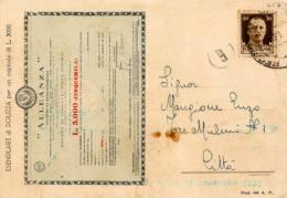 ASSICURAZIONE ALLEANZA POLIZZA 1944 - Publicité