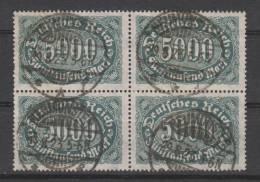D.R.256b,Viererblock,   Gestempelt. - Deutschland