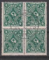 D.R.226,Viererblock,   Gestempelt. - Deutschland