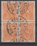D.R.227a,Viererblock,   Gestempelt. - Deutschland